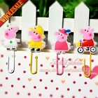 4PCS  Pink Pig Cartoon Bookmarks,Paper clips,DIY Multifunction Bookmarks,Gifts