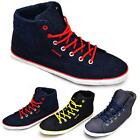 Mens Hi Tops Trainers New Boys Ankle Flat Pumps Quilted Fashion Boots Shoes Size