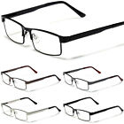 Various Strengths 1.25-4.00 Fashion Readers Metal Men Clear Lens Reading Glasses
