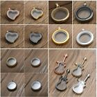 Jewelery For Living Memory Glass Locket Necklace Floating Charms Fashion Pendant