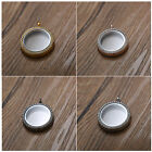 30mm Round Fashion Jewelery Charms Living Memory Glass Floating Locket Necklace
