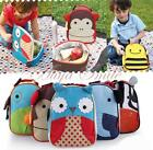 Cute Kids Boys Girls Lunch Box Animal Zoo Handbag Toddler Child Meal Food Bag