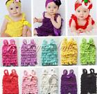 1PC New Baby Girls Cute Lace Ruffles Photo Prop Petti Romper Jumpsuit SZ 3-24M