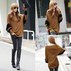 Fashion Women Batwing Sleeve Loose Long T-Shirt Casual Oversized Tops Tee Blouse