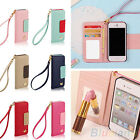 Charm Wallet Card Holder Leather Flip Case Cover For Apple iPhone 5/5S 6/ 6 Plus