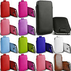 Pull Up PU Leather Skin Smart Case Cover Pouch Sleeve For iPhone Samsung Phones