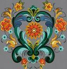 Rosemaling 5x7 hoop Only - Machine Embroidery Designs Set of 10 On CD