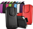 COLOUR (PU) LEATHER MAGNETIC BUTTON PULL TAB POUCH FOR ALCATEL POP C2 MOBILES