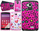 Virgin Mobile LG Tribute HARD Hybrid Rubber Silicone Case Phone Cover Accessory