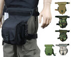 Tactical Military Paintball Airsoft Belt Drop Leg Thigh Panel Utility Pouch Bag