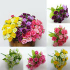 21pcs Artificial Flower Fake Silk Flower Arrangement Wedding Party Garden Decor