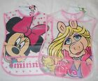 Disney Minnie Mouse Miss Piggy Bib with Crumb Catcher 6 Mths +  New Free P+P