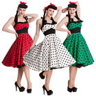 Hell Bunny Adelaide Polka Dot Retro Rockabilly Vintage 50s Party Prom Sun Dress