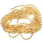 Popular Plated Golden Stainless Steel Ball Bead Charms Chain Necklace Length 1m