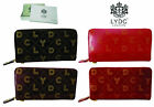 Ladies LYDC Designer Patent Style Purse Women Wallet Zip Wrist Strap Bag Boxed