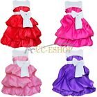 Flower Girl Princess Dress Kids Party Pageant Wedding Bridesmaid Fancy Dress 2-8