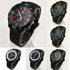 CH Mens Wrist Watch Sports Military Quartz Rubber Round Stylish Analog Cheap NEW