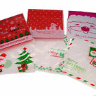 X'mas Christmas Cookie Candy Party Gift Bags with Self-Adhesive, Pack of 95