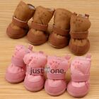 HOT New 4pcs Lovely Cotton Winter Warm Soft Cozy Boots Shoes For Pets Dogs Puppy