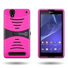 For Sony Xperia T2 Ultra - Protective Hybrid Dual Layer Kickstand Cover Case