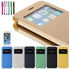 For Apple iPhone 6 & iPhone 6 Plus Flip Leather View Window Skin Case Cover Skin