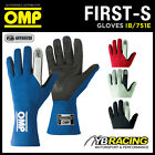 NEW! IB/751A 2015 OMP FIRST-S GLOVES FIREPROOF RACING RALLY GLOVES - 3 COLOURS!