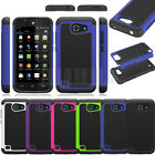 For AT&T Huawei Tribute Fusion 3 Y536A1 Rugged Hybrid Impact Hard Case Cover