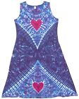 TIE DYE Women's Tank Top Dress Hearts hippie boho gypsy sm med lg xl 2X 3X love