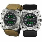 INFANTRY Luxury Digital Quartz Mens Wrist Watch Military Army Sport Rubber Alarm