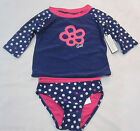 baby blue polka dot - BABY GAP Girls Blue Polka Dot Rashguard Bathing Swimsuit 2  3  4  5