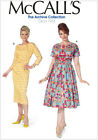 McCall's 7086 Sewing Pattern to MAKE Archive Collection '63 Dress w/Skirt Vari