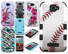 Alcatel OneTouch Pop Icon IMPACT TUFF HYBRID Case Skin Cover +Screen Protector