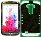 Protective Cover for LG G3 Dual Layer Case Oak Tree Leaves Camo w/ Glow in Dark