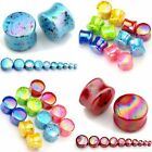 Pair Acrylic Solid Saddle Flared Tunnels Ear Plugs Expander Stretcher Earlets