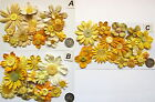 SCRAPBOOKING NO 259 - 16 PRIMA PAPER FLOWERS - 5 DIFFERENT PACKS AVAILABLE