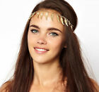 Boho Women Gold Angel Wing Wedding Headdress Headband Head Band Chain Headpiece