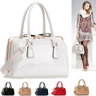 Ladies Designer Leather Style Celebrity Tote Bag  Handbag With Metal Frame