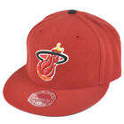 NBA Mitchell Ness TK40 Miami Heat Red Fitted Alternate Hat Cap