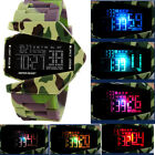 CH Mens Aircraft Womens Black White Camouflage LED Watch Wrist Watch Silicone