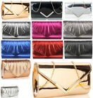 Ladies Small Handbag  Women's Night Out  Classy Evening Clutch Bag Prom Metallic