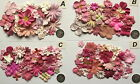 SCRAPBOOKING NO 121 - 25+ PINK  PRIMA PAPER FLOWERS -8 DIFFERENT PACKS AVAILABLE