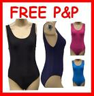 Ladies Plain Swimsuit, Black Navy Pink  UK 10-16
