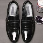 Premium Embio Black Leather Mens Dress Loafers Shoes