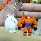 New 2PCS Big Hero 6 Keychains Key Rings Accessories Pendant Rubber,Party Gifts
