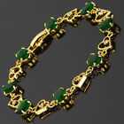 Charming! Green Emerald 18K White Gold Plated Gp Tennis Bracelet Fashion Jewelry