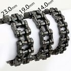 14/19/23MM Biker Motorcycle Mens Chain Boys Black 316L Stainless Steel Bracelet