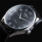 Luxury Mens Automatic Mechanical Leather Stainless Steel Date Analog Wrist Watch