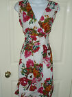 Ladies V-Neck Crossover Bust Sundress. Sash Tie BNWT Blue or Pink S M L XL (198)