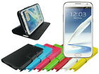 Slim Leather Wallet Case Stand with Soft TPU for Samsung Galaxy Note 2 II