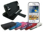 Leather Wallet Case Stand with Soft TPU for Samsung Galaxy S Duos S7562